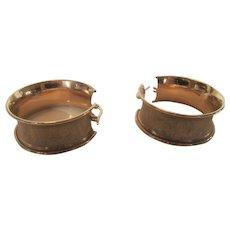 14 Karat Rose Gold Statement Hoop Earrings