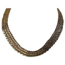 Vintage Givenchy Big Bold Braided Goldtone Necklace
