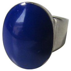 Sterling Silver Mexican Lapis Lazuli Ring