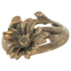 Sterling Silver Flower Ring in Free Form