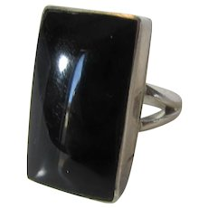 Sterling Silver Mexican Onyx Ring
