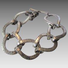 Vintage Lucky Brand Silver Tone Toggle Bracelet