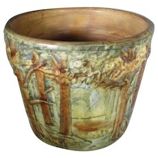 Weller Forest Pattern Small Jardiniere With Beautiful Hand Painting