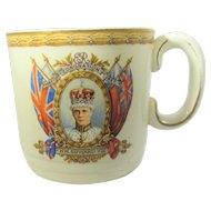King Edward VIII Commemorative Mug Dated  May 12th, 1937 by Grindley, England
