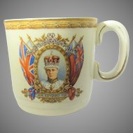 King Edward VIII Commemorative Mug Dated  May 12th, 1937 by Grindley, England