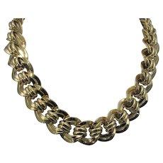 Vintage Statement Goldtone Necklace