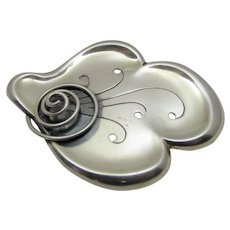 Sterling Silver Swedish Designer Signed Pin
