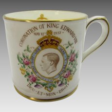 Royal Coronation Mug 1937 King Edward VIII