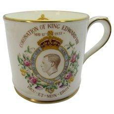 Royal Coronation Mug 1937 King Edward VIII