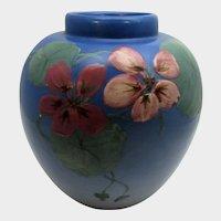 Weller Artist Signed Hudson Vase Floral Themed