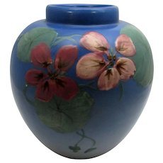 Weller Artist Signed Hudson Vase Floral Themed