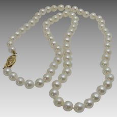 Cultured Freshwater Pearls With 14 Karat Clasp