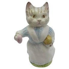 Pottery, Porcelain & Glass Cats Beswick Seated Persian Brown & Grey Cat 1886