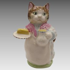 Beswick Beatrix Potter Ribby Figurine Cat with Butter and Cream