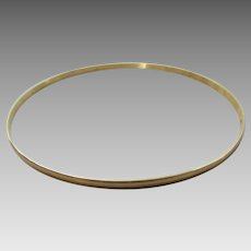 14 Karat Yellow Gold Bangle