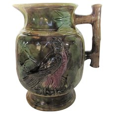 Majolica Thomas Forester Eagle Pitcher