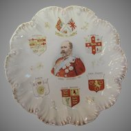 King Edward VII Plate Representing The Commonwealth Unity is Strength