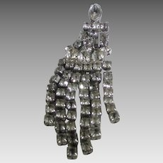 Vintage Mandel and Marcus NY 1940's  Clear Crystal Pin With Lots of Movement