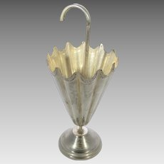 Sterling Silver Designer Mini Umbrella Stand Toothpick Holder Made in Mexico