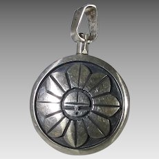 Sterling Silver Double Sided Pendant