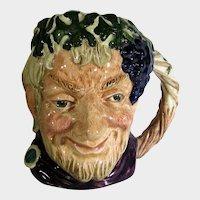 Royal Doulton Bacchus God Of Wine Small Character Jug