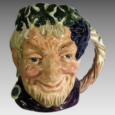 Royal Doulton Bacchus God Of Wine Small Character Jug