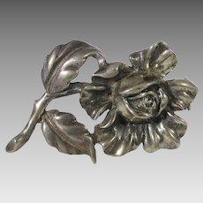 Sterling Silver Designer Floral Pin