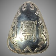 Sterling Silver Pin or Pendant In Native Peruvian Style
