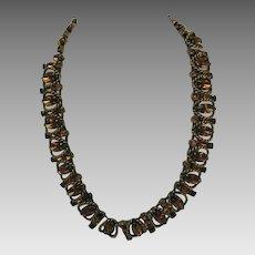 Vintage Signed Kramer in Smokey Topaz Colored Stones Necklace