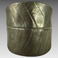 Vintage Leaf Form Mega Cuff