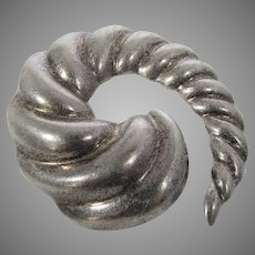 Sterling Silver Mexican Swirl Pin