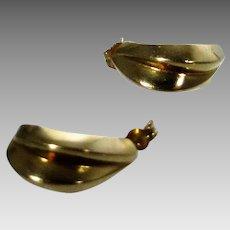14 Karat Yellow Gold Swirl Earrings