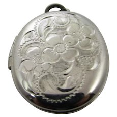 Sterling Silver Engraved Locket