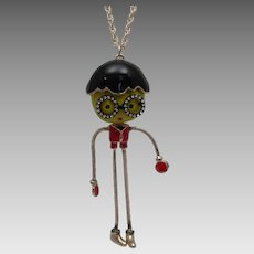 Vintage Mod Enamelled Figure With Movable Arms and Legs