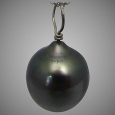 Vintage Freshwater Grey Pearl Solitaire on a Sterling Silver Chain
