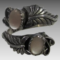 Sterling Silver By Pass Ring With Mother of Pearl Accents by Richard Begay