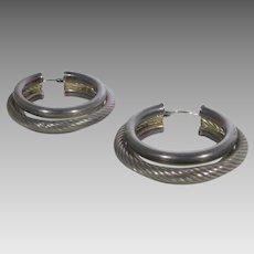 Sterling Silver Bold Hoops for Pierced Ears