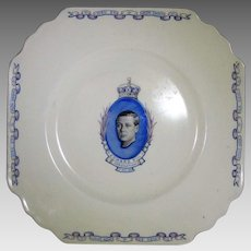 King Edward VIII Commemorative Plate Dated  May 12th, 1937 by Wedgwood AC&L England