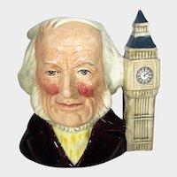 Royal Daulton  John Doulton With Two O'Clock Handle Character Toby Mug