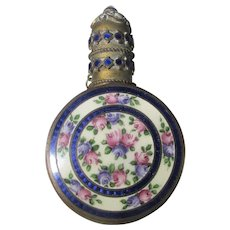 Vintage Enamelled Perfume with Removable Cap