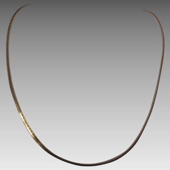 Sterling Silver Rose Gold Snake Chain