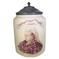 Queen VIctoria 60th Diamond Jubilee 1897 Lidded Jar