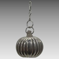 Sterling Silver Squash Pendant on a Sterling Silver Chain