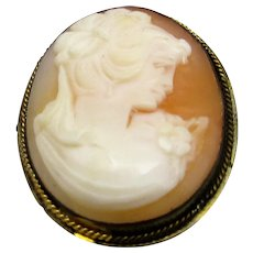 900 Silver Framed Cameo Pin or Pendant