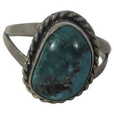 Sterling Silver Native American Ring With Turquoise