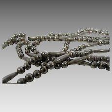 Vintage Silver Tone Southwestern Double Strand Necklace