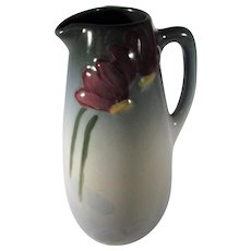 Weller Etna Small Floral Decorated Pitcher 1906