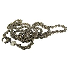 Sterling Silver Gold Wash Chain