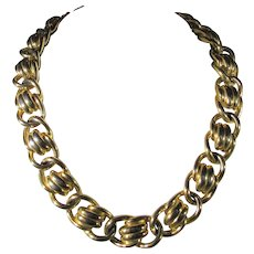 Vintage Big Bold Anne Klein Goldtone Necklace