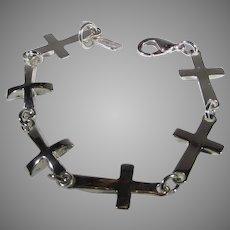 Sterling Silver Robert Lee Morris SOHO Studio Multi Cross Bracelet